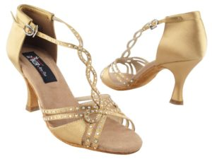 Women's Tan Satin Open Toe $99