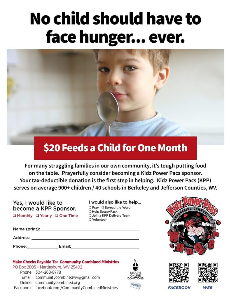No child should have to face hunger, ever. Contact us to sponsor a child for twenty dollars a month.