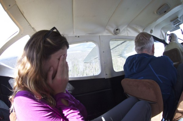 Me on seaplane- scared!