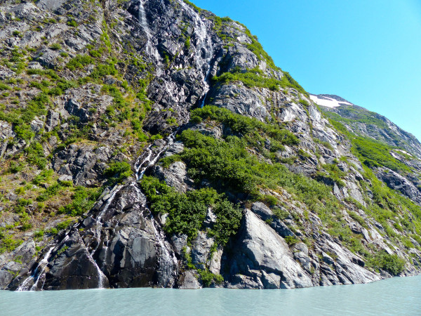 Portage Glacier- waterfall