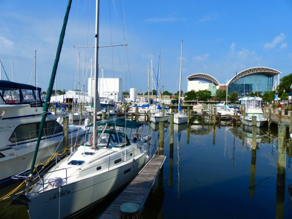 Marina with view of Air and Space in background