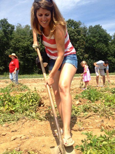 me digging for potatoes