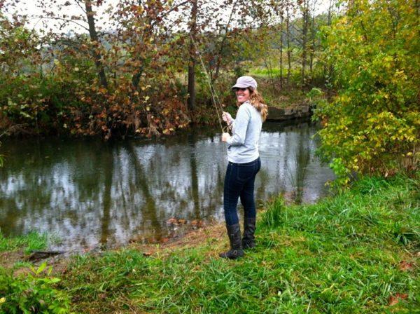 Fishing- me on the creek