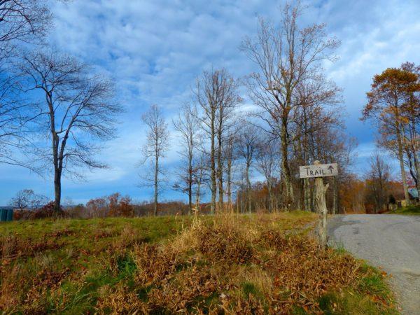 Primland- geocaching trail sign
