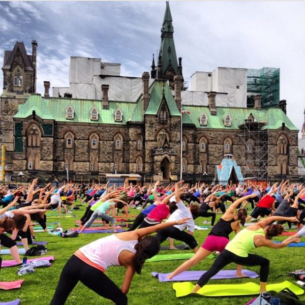 Yoga at Parliament Hill