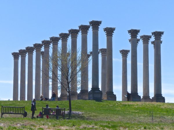 National Arboretum- Capitol Columns from afar