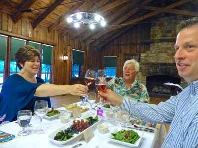 Skyland Resort- Vintner's Dinner- cheers