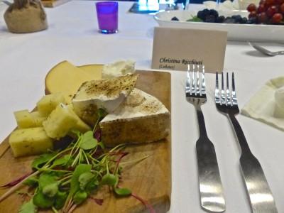 Skyland Resort- Vintner's Dinner- cheese plate