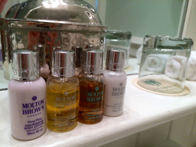 Keswick Hall- room- toiletries