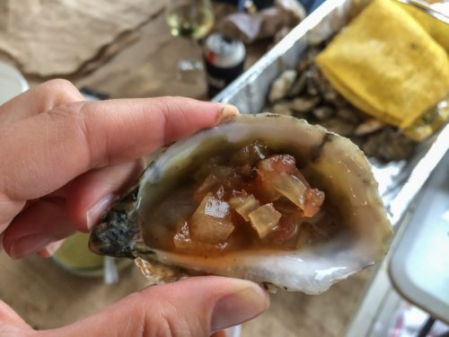 Rappahannock Oysters with Pickled Watermelon