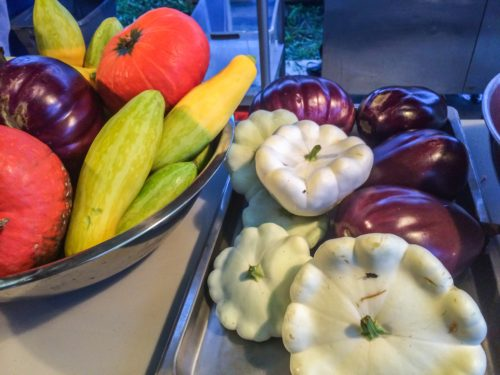fresh gourds and squashes