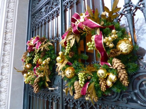 Holidays in the Brandywine Valley- Nemours front gates