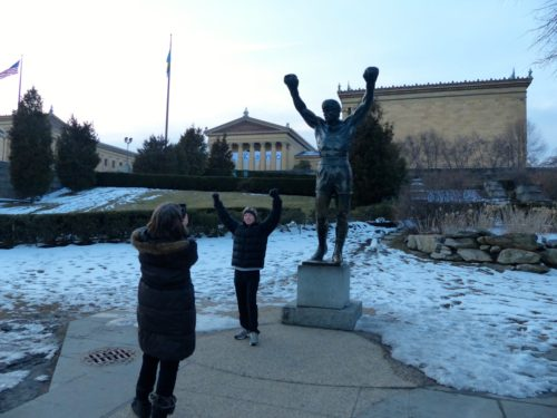 2 Days in Philadelphia - Philadelphia Museum of Art- Steps- rocky statue