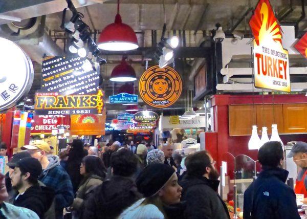 Philadelphia- Reading Terminal Market- lots of people bad