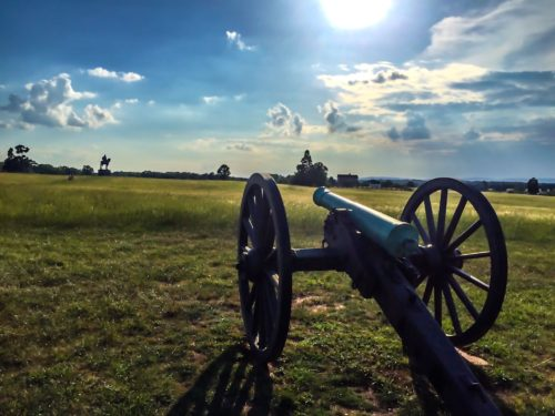 DC Day Trip to Manassas- Manassas Battlefield cannon
