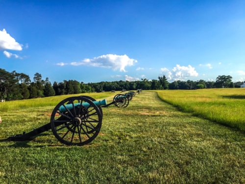 DC Day Trip to Manassas- Manassas Battlefield - cannons