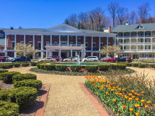 Omni Bedford Springs Review- main entrance