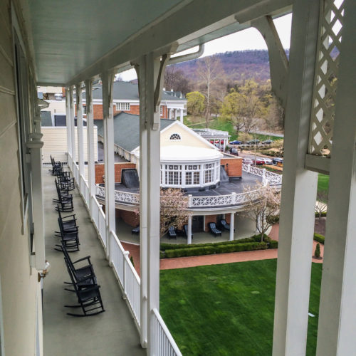 Omni Bedford Springs Review- porches