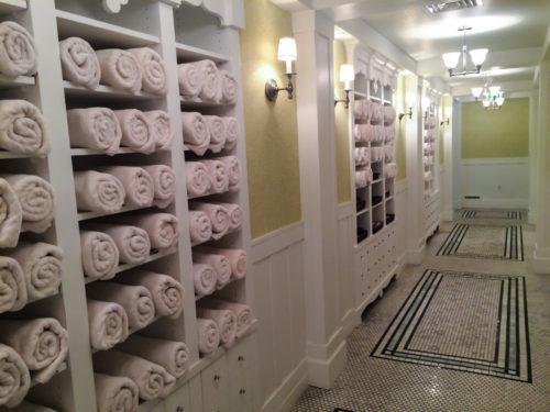 Omni Bedford Springs Review- spa hallway