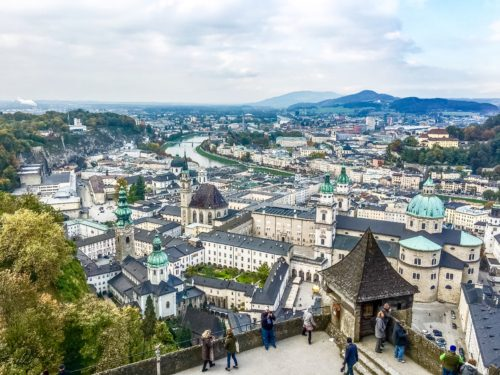 Salzburg- view from the Hohensalzburg fortress