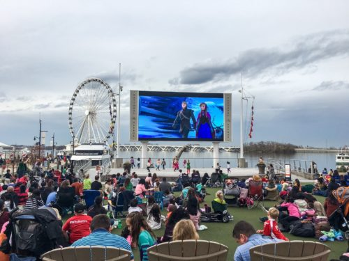 Holidays at the National Harbor- Frozen outdoor movie