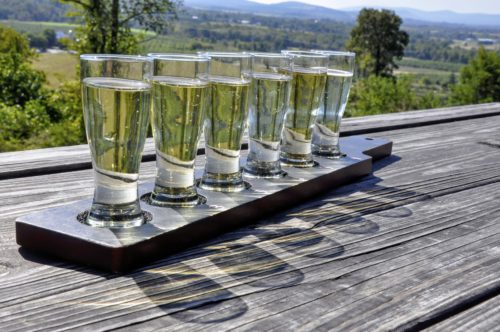 gettysburg-getaway-hauser-estate-winery-flight-of-ciders-outside