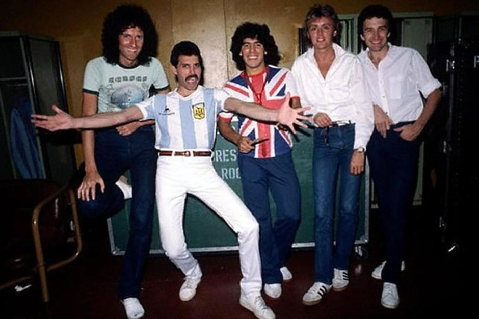 El encuentro entre Freddie Mercury y Diego Armando Maradona