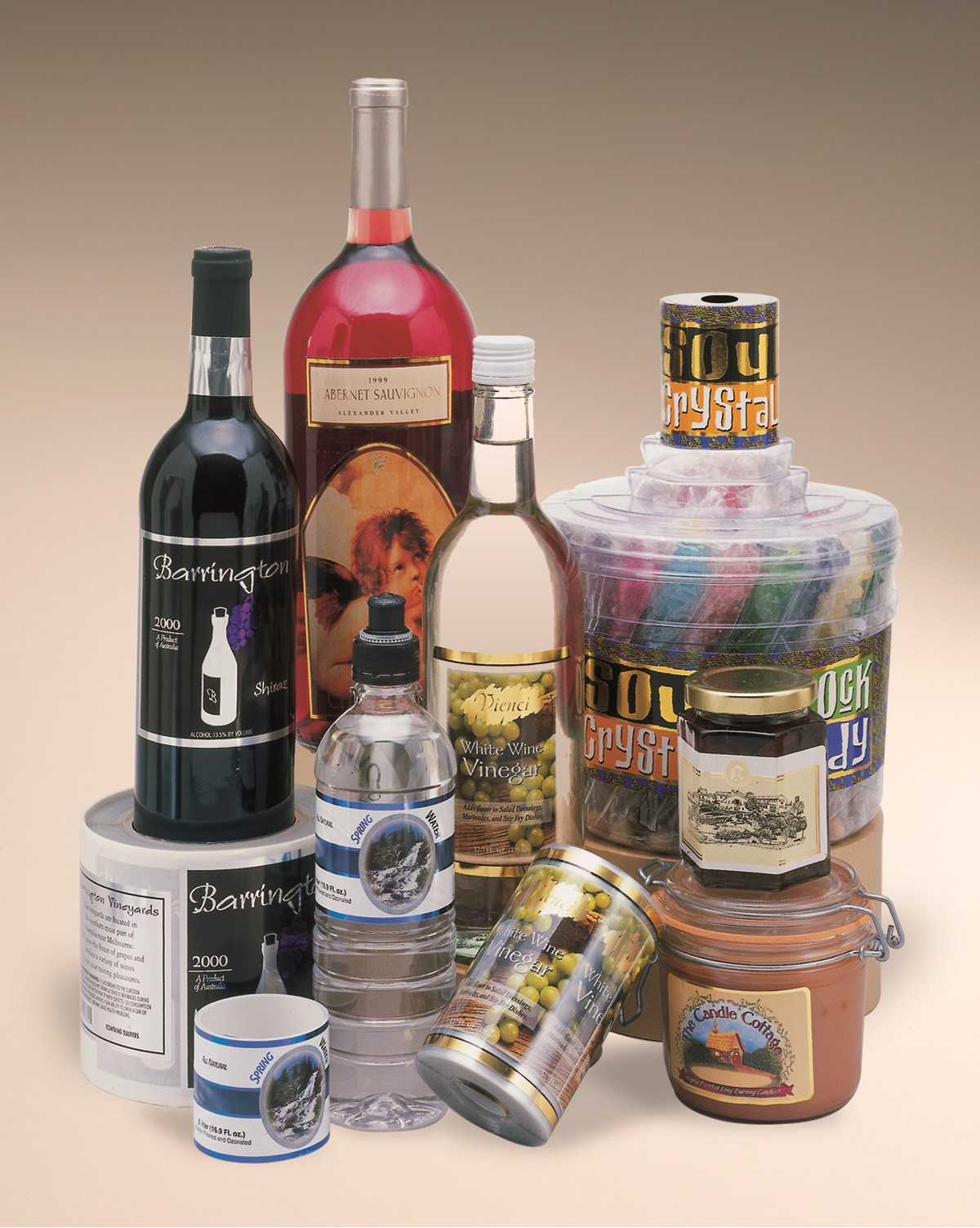 wine beer water cosmetics labels