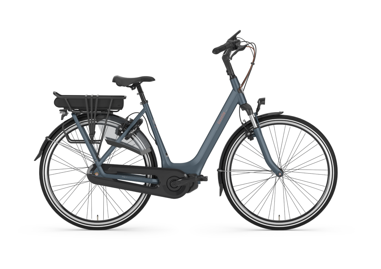 gazelle electric bike blue