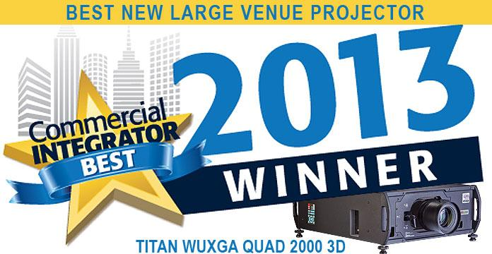 "DPI's Titan Super Quad honoured as ""Commercial Integrator Best"" at InfoComm 2013"