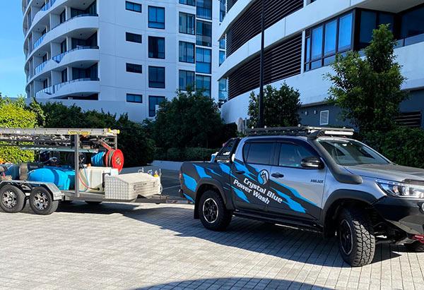 Crystal Blue Power Wash Vehicle