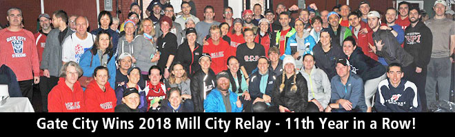 Gate City Wins 2018 Mill City Relay - 11th Year in a Row!