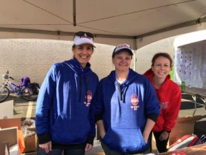 Striders working the Gate City Marathon & Relay