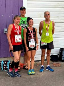 Congratulations to all of tonight's Ultimate Runners that completed the challenge and beat the heat. The age and gender graded top 3 were 1st Place Yuki Minami Chorney, 2nd Place Trevor L Ward and 3rd Place Gina Joubert. Photo by Aline Kenney