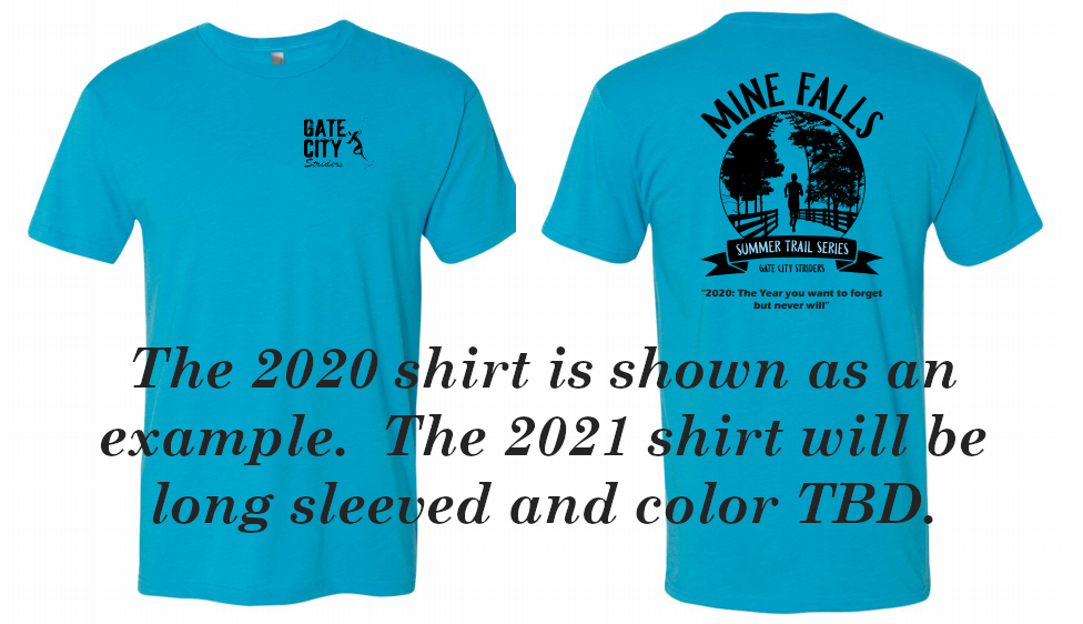 The 2021 shirt will be long sleeved and the color will be announced at a later date.