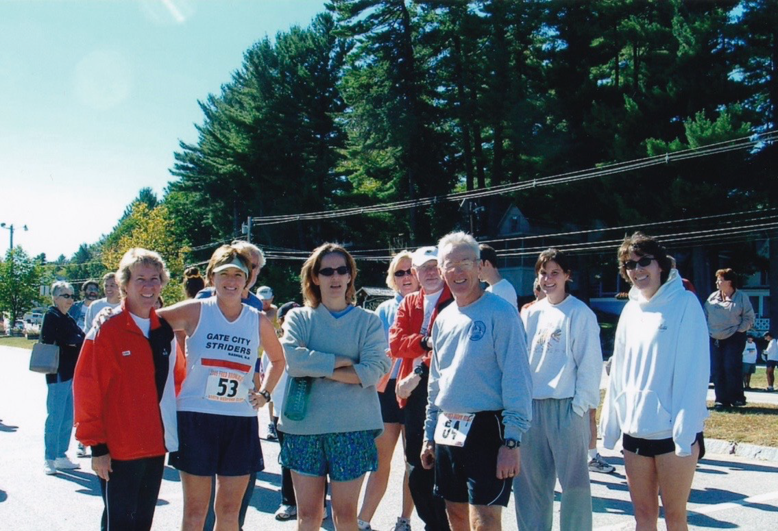 The 2005 Winnipesaukee female relay open first place! (and best supporter Terry!)
