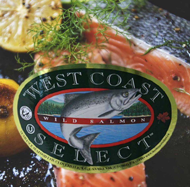 Salmon product label