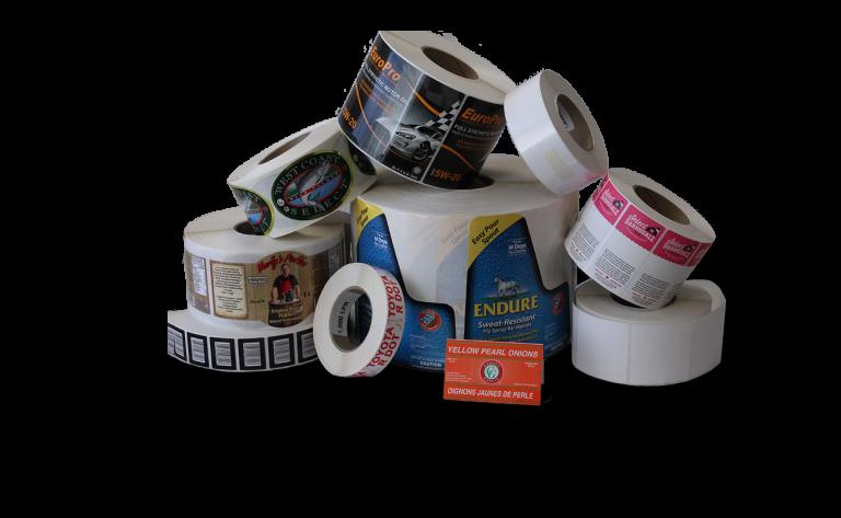 Sample packaging labels
