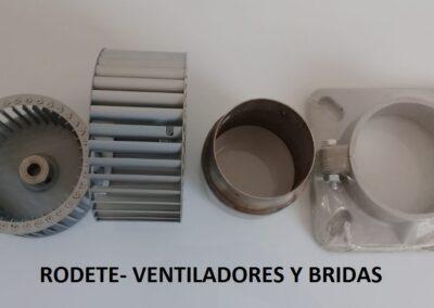 bridas y rodetes de ventilador
