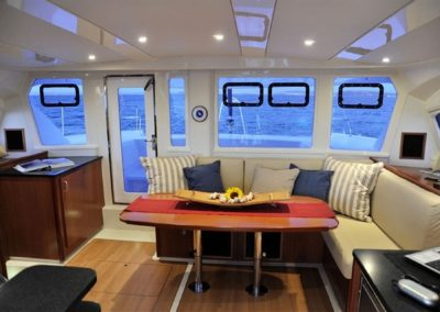 Featuring a Walk Through Galley to Forward Seating & Dining Area