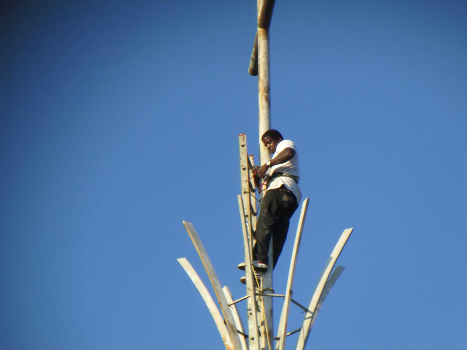 Prefab steeple repair