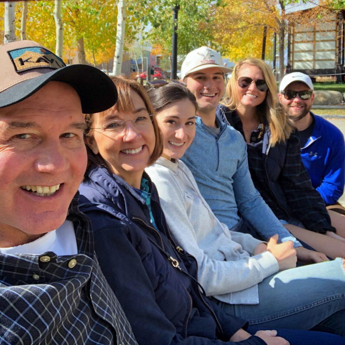 Group Selfie on Bench in BV