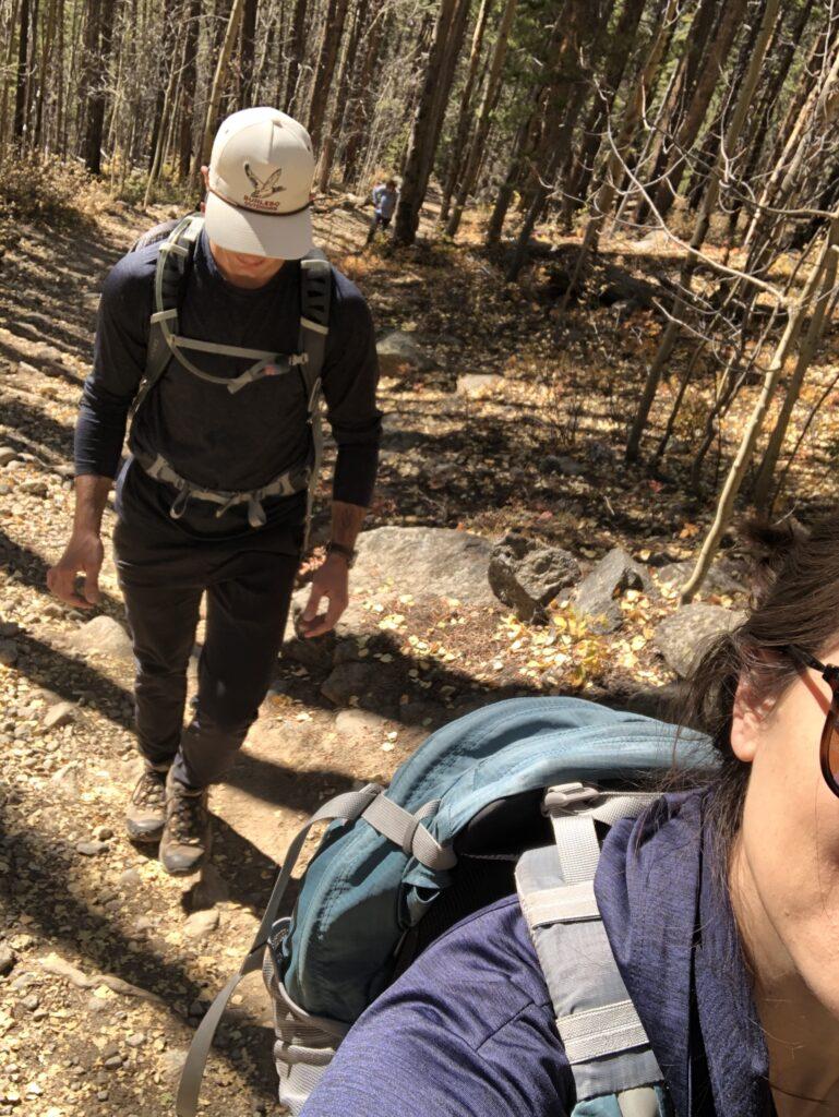 Hiking Colorado Fall Hartenstein Lake