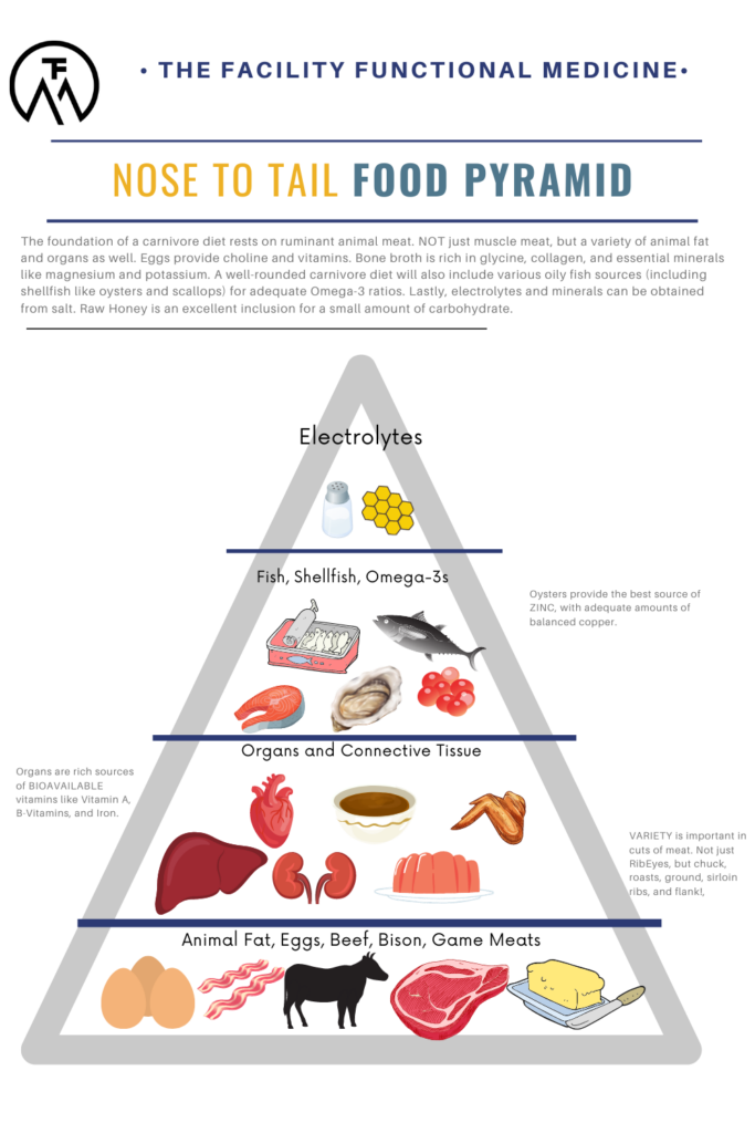 Nose to Tail Food Pyramid for Eating the Carnivore Diet