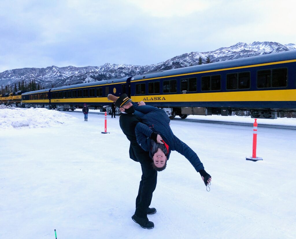 Alaska in Winter_ Aurora Train in Denali Park