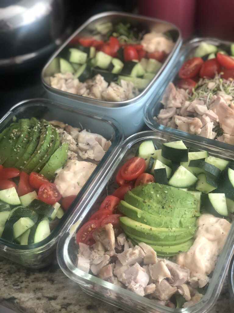 Meal Prep Food Containers with Healthy Meals for the Week