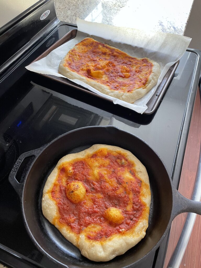 Pre-Baked Sourdough Crust Ready for Homemade Pizza Night Toppings