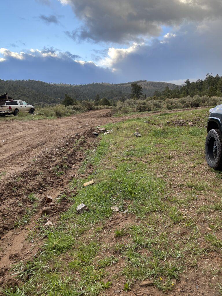 Parked at Cielo Vista Ranch HQ for Culebra Peak Hike
