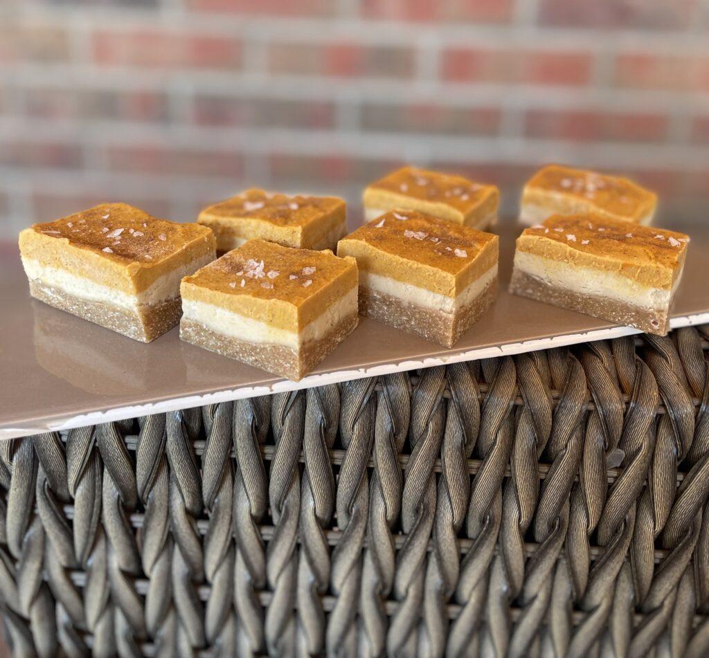 Dairy Free Pumpkin Cheesecake Layer Bars