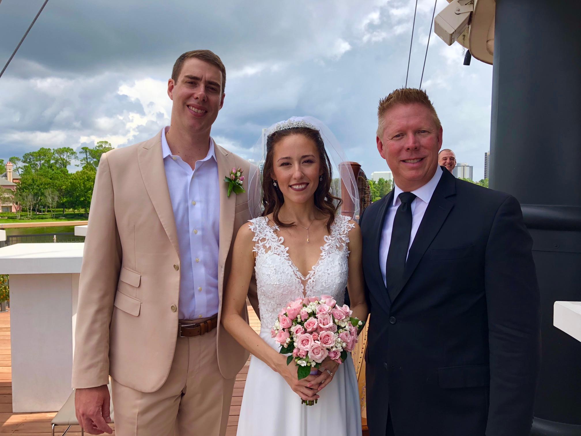Stephen and Saaya married at Disney Springs